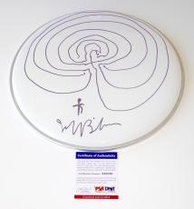 Jeff Bridges Sketch Signed Drumhead Psa Coa X68080