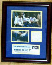 Signed Jeff Carlson Photo - Steve & Dave Hanson Hanson Brothers Slap Shot Masterpiece tin foil 11x14 in size