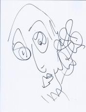 Jeff Coffin Dave Matthews Band Signed Autographed Hand Drawn Portrait Sketch B