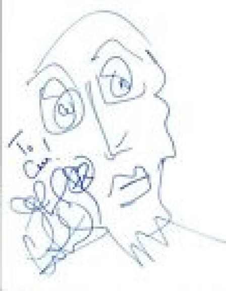 Jeff Coffin Dave Matthews Band Signed Autographed Hand Drawn Portrait Sketch COA