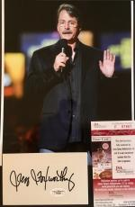 JEFF FOXWORTHY (Comedian) signed index card and 8x10 photo-JSA Authenticated