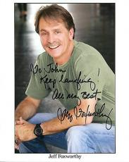 JEFF FOXWORTHY HAND SIGNED 8x10 COLOR PHOTO+COA       GREAT COMEDIAN     TO JOHN