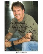 JEFF FOXWORTHY HAND SIGNED 8x10 COLOR PHOTO+COA     GREAT COMEDIAN   TO MICHAEL