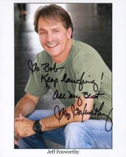JEFF FOXWORTHY HAND SIGNED 8x10 COLOR PHOTO+COA      REDNECK COMEDIAN     TO BOB