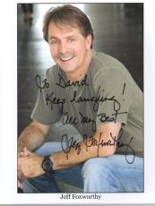 JEFF FOXWORTHY HAND SIGNED 8x10 PHOTO+COA      AWESOME COMEDIAN        TO DAVID