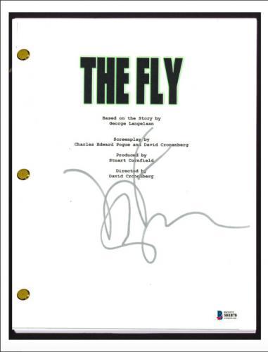 Jeff Goldblum Signed Autograph THE FLY Movie Script Screenplay Beckett BAS COA