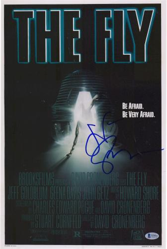 """Jeff Goldblum The Fly Autographed 12"""" x 18"""" Poster - BAS"""