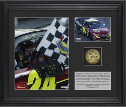 Jeff Gordon 2013 Goody's 500 Race Winner Framed 2-Photograph Collage with Gold-Plated Coin - Limited Edition of 324 - Mounted Memories