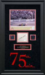GORDON, JEFF FRAMED 8x10 w/AUTO 75TH WIN CUTOUT/METAL/SUIT