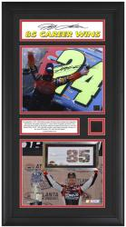 GORDON, JEFF FRAMED (2011 ATLANTA/85TH WIN) 1-AUTO 8x10/TIRE
