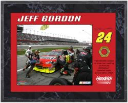 Jeff Gordon 2010 Race-Used Lug Nut 8'' x 10'' Plaque - Limited Edition of 524 - Mounted Memories