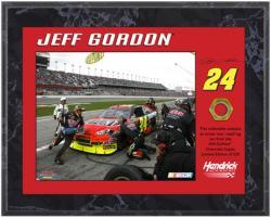 "Jeff Gordon 2010 Race-Used Lug Nut 8"" x 10"" Plaque - Limited Edition of 524"
