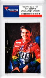 Jeff Gordon Nascar Autographed 1995 Upper Deck SP # JG1 Card
