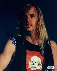 Jeff Hanneman Signed Autographed 8x10 Photo SLAYER Guitarist PSA/DNA COA