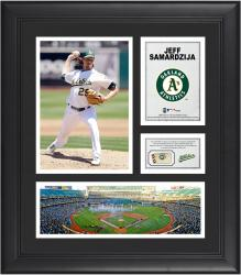 Jeff Samardzija Oakland Athletics 15'' x 17'' Framed Collage with Game-Used Ball