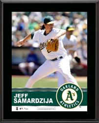 Jeff Samardzija Oakland Athletics Sublimated 10.5'' x 13'' Plaque -