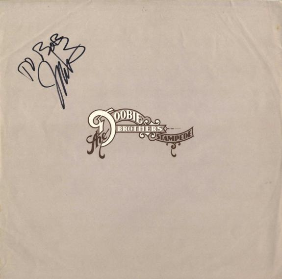 Jeff Skunk Baxter Autographed Personalized Album Sleeve UACC RD COA AFTAL