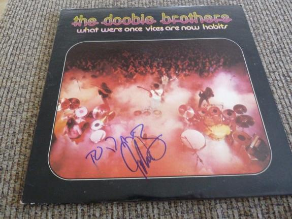 Jeff Skunk Baxter Doobie Brothers Autographed Signed LP Album PSA Guaranteed #3