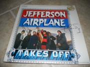 Jefferson Airplane Takes Off Signed LP Album x2 Jack & Jorma PSA Guarantee