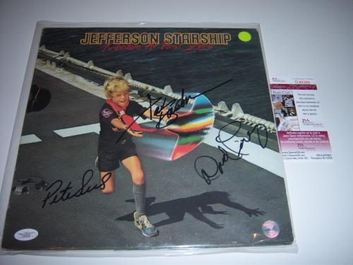 Jefferson Starship Freedom At Point Zero 3sigs Jsa/coa Signed Lp Record Album