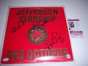 Jefferson Starship Red Octopus 3sigs Jsa/coa Signed Lp Record Album