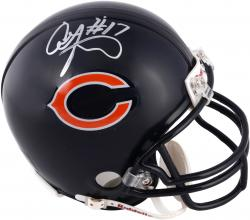 Alshon Jeffery Chicago Bears Autographed Riddell Mini Helmet - Mounted Memories