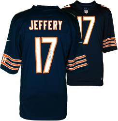 Alshon Jeffery Chicago Bears Autographed Nike Replica Blue Jersey - Mounted Memories