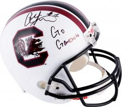 Alshon Jeffery South Carolina Gamecocks Autographed Riddell Replica Helmet with Go Gamecocks Inscription - Mounted Memories