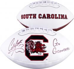 Alshon Jeffery South Carolina Gamecocks Autographed White Panel Football with Go Gamecocks Inscription - Mounted Memories