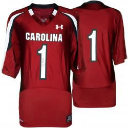 Alshon Jeffery South Carolina Gamecocks Autographed Under Armour Replica Garnet Jersey - Mounted Memories
