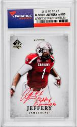 Alshon Jeffery South Carolina Gamecocks Autographed 2012 Upper Deck SP #5 Rookie Card with Fighting Gamecocks Inscription