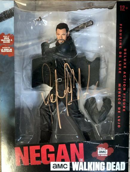 """JEFFERY DEAN MORGAN (NEGAN-The Walking Dead) signed 12"""" deluxe action figure"""