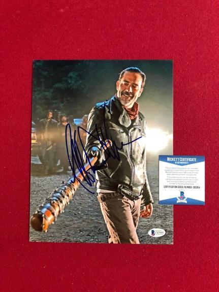 "Jeffrey Dean Morgan, ""Autographed"" (Beckett) ""Walking Dead"" 8x10 Photo (Negan)"