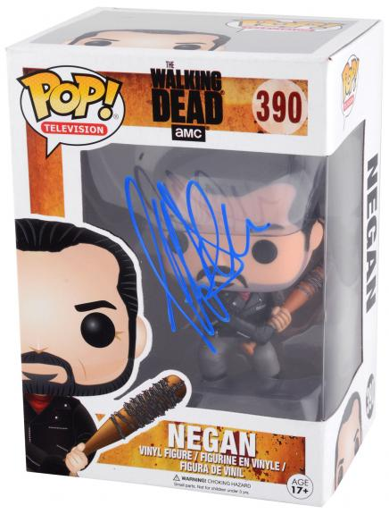 Jeffrey Dean Morgan Autographed Negan The Walking Dead Funko Pop - BAS COA