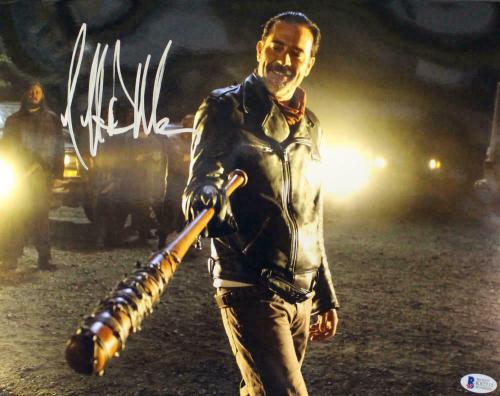 Jeffrey Dean Morgan Autographed Walking Dead 11x14 Photo Negan BAS 12737
