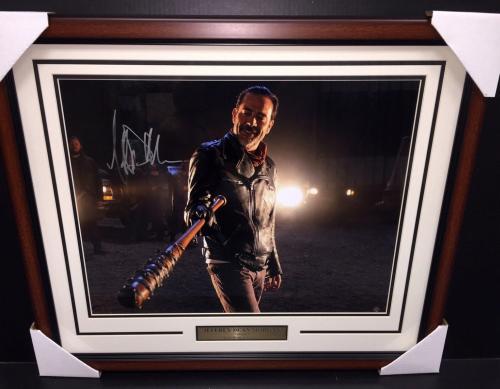 Jeffrey Dean Morgan Autographed Walking Dead Negan 16x20 Photo Framed Steiner