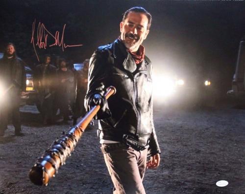 Jeffrey Dean Morgan Autographed/Signed Negan Photo 16x20 Photo JSA COA