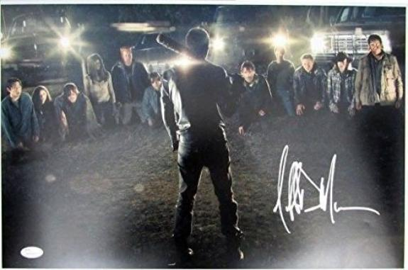 Jeffrey Dean Morgan Negan Walking Dead Autographed/Signed 12x18 Photo JSA 129319