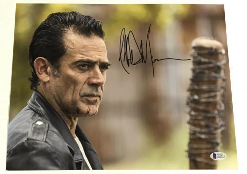 Jeffrey Dean Morgan Signed 11x14 Photo The Walking Dead Autograph Negan Bas D