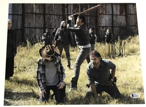 Jeffrey Dean Morgan Signed 11x14 Photo The Walking Dead Autograph Negan Bas F