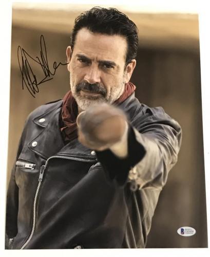 Jeffrey Dean Morgan Signed 11x14 Photo The Walking Dead Autograph Negan Bas G