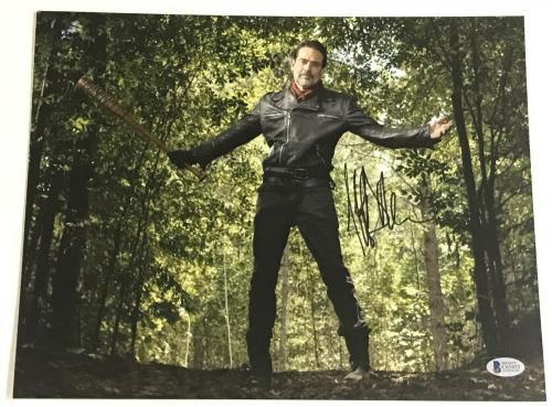 Jeffrey Dean Morgan Signed 11x14 Photo The Walking Dead Autograph Negan Bas H