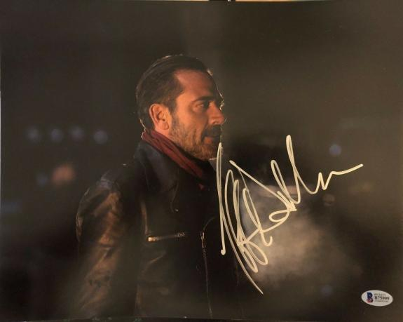 Jeffrey Dean Morgan Signed 11x14 Photo Walking Dead Beckett Bas Autograph Auto A