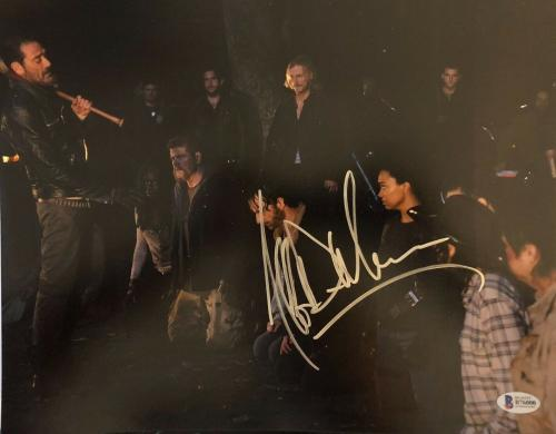 Jeffrey Dean Morgan Signed 11x14 Photo Walking Dead Beckett Bas Autograph Auto B