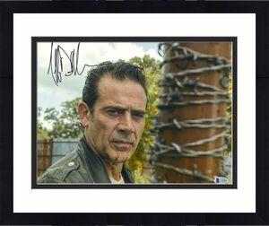 Jeffrey Dean Morgan Signed 11x14 Walking Dead Bleeding Photo Beckett BAS COA