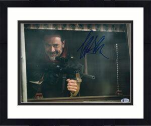 Jeffrey Dean Morgan Signed 11x14 Walking Dead Photo Gun Beckett BAS COA