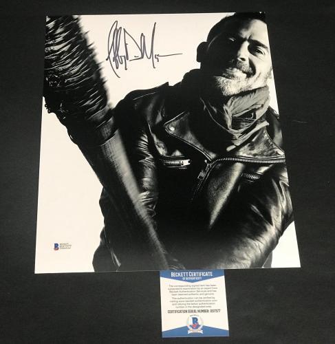 Jeffrey Dean Morgan Signed Auto The Walking Dead 8x10 Photo Bas Beckett Coa  24