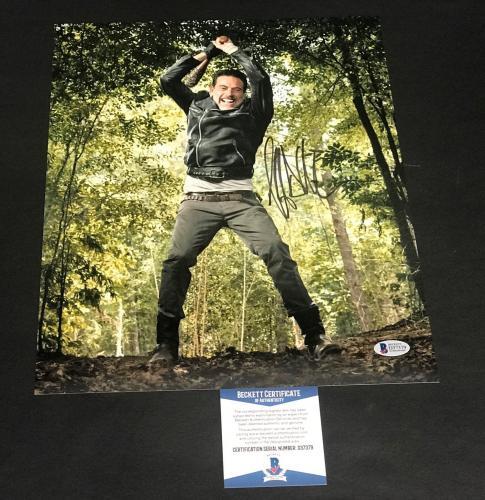 Jeffrey Dean Morgan Signed Auto The Walking Dead 8x10 Photo Bas Beckett Coa  27