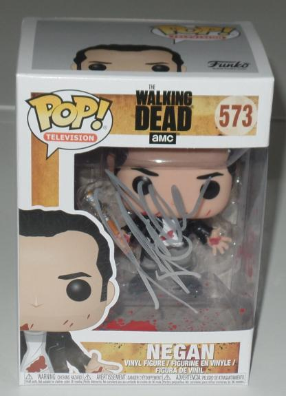 Jeffrey Dean Morgan Signed Auto'd Funko Pop Bas Coa The Walking Dead Negan A
