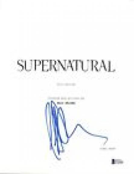 Jeffrey Dean Morgan Signed Autograph SUPERNATURAL Pilot Episode Script BAS COA